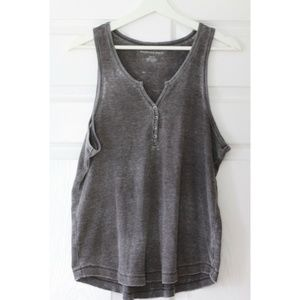 American Eagle Outfitters Grey Waffle Tank  - M/L